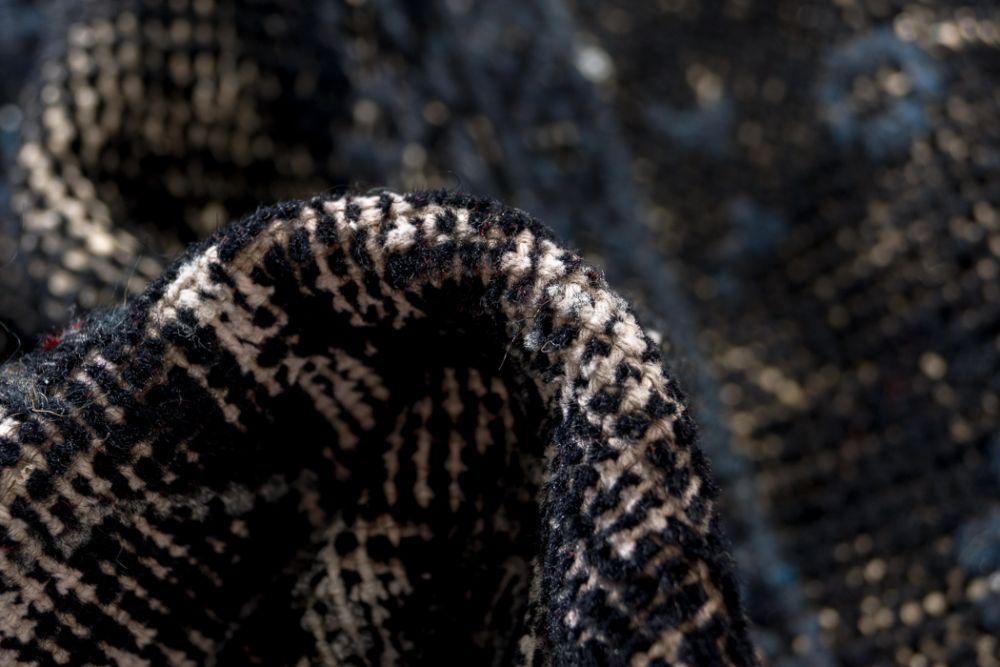 Patchwork svart  170x240